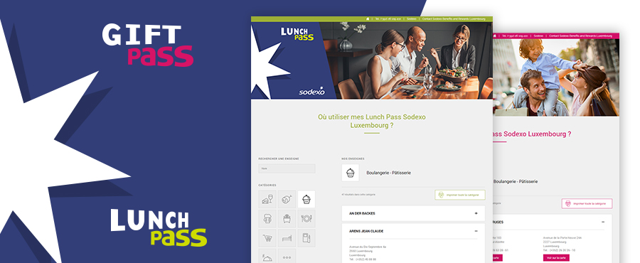 Sites Sodexo Gift et Lunch pass