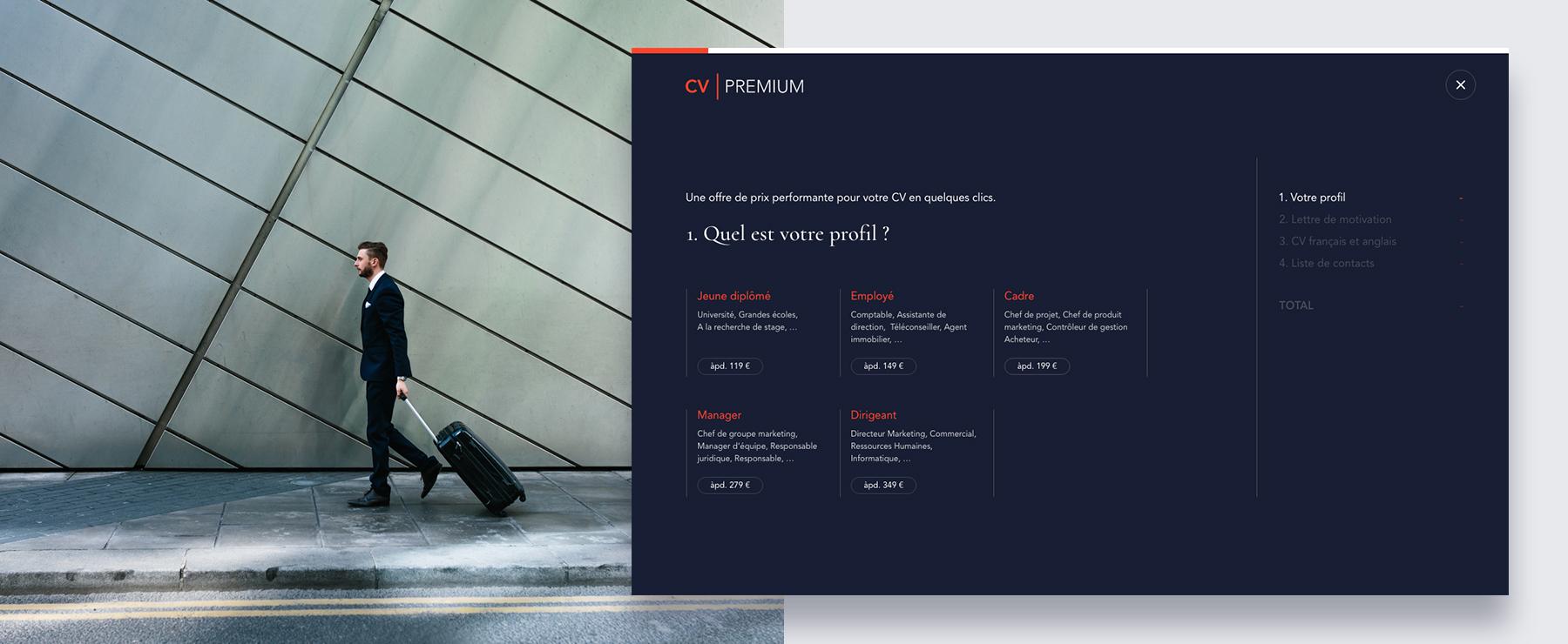 cr u00e9ation d u2019un nouveau site internet pour cv premium