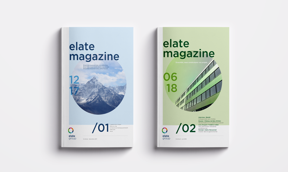 couverture du magazine elate group