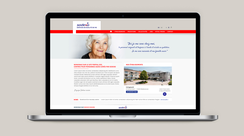 Sites internet Sodexo Seniors