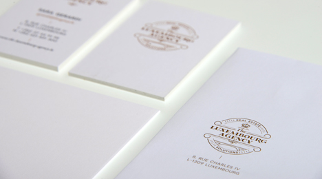 Cartes de visite The Luxembourg Agency - Letterpress (impression typographique