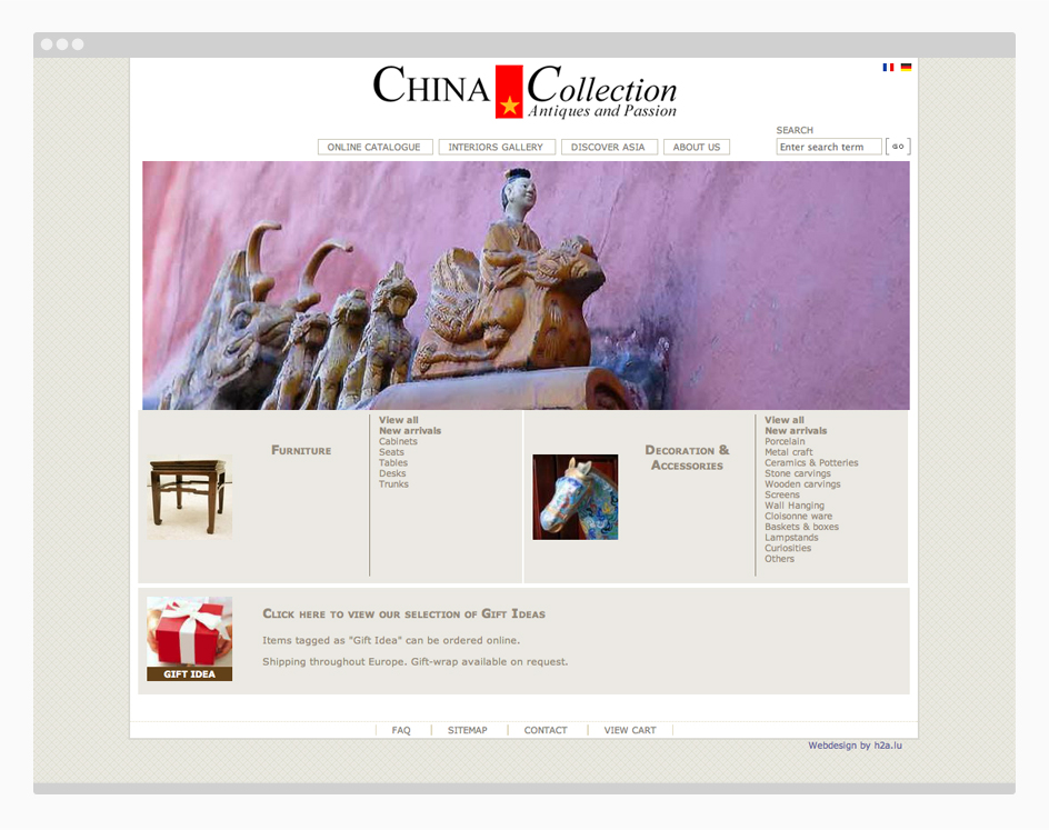 China collection site web