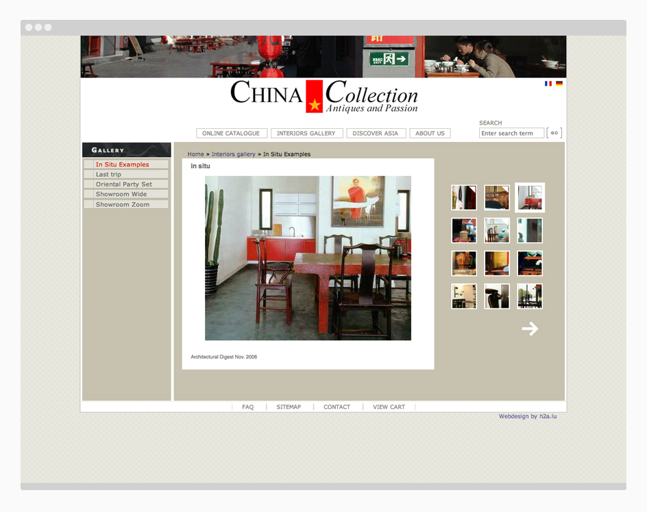 site internet china collection - galerie