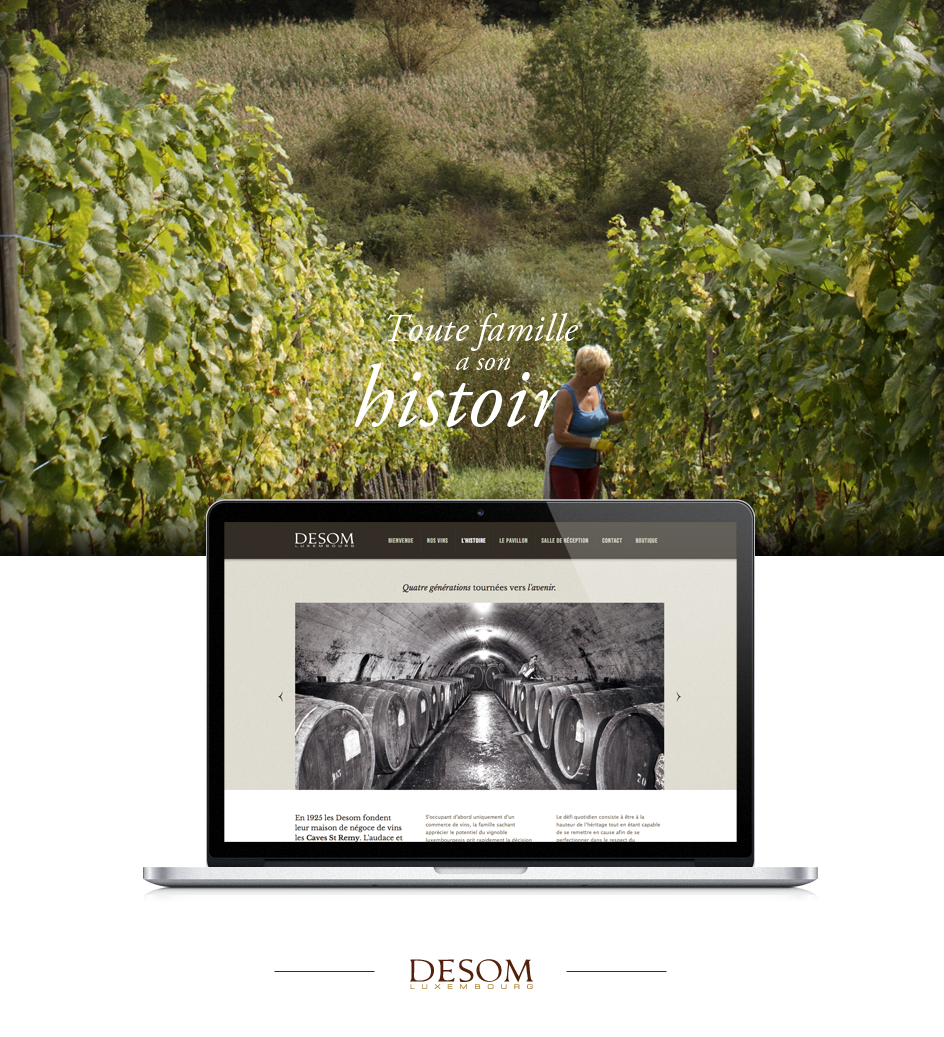 site web caves desom - page
