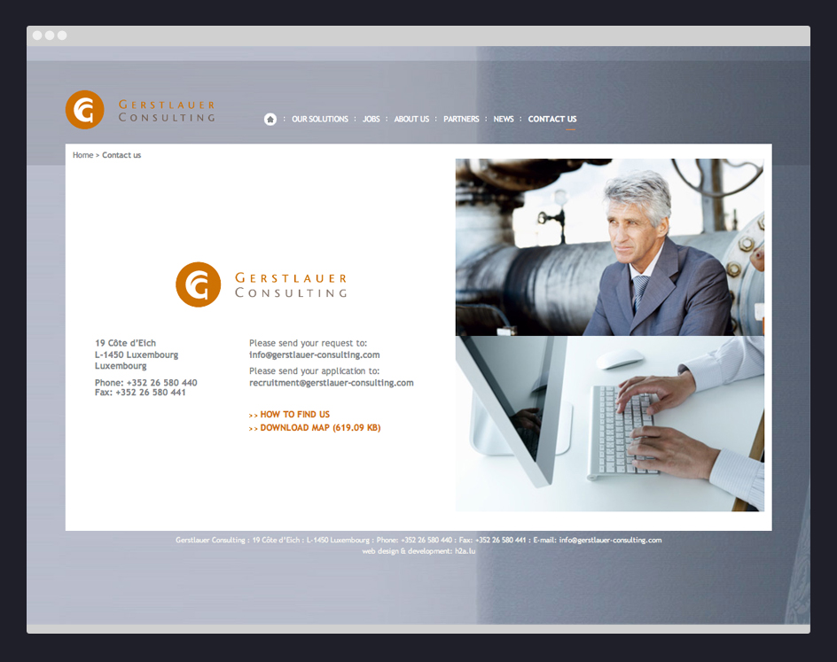 Contact Us Site internet -Gerstlauer Consulting