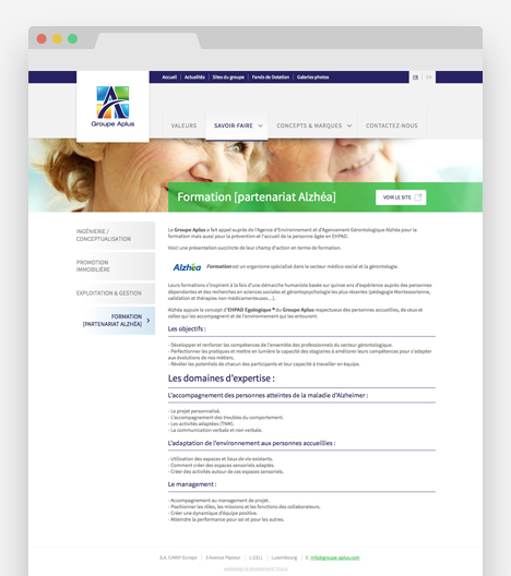 Site Internet - Groupe APLUS