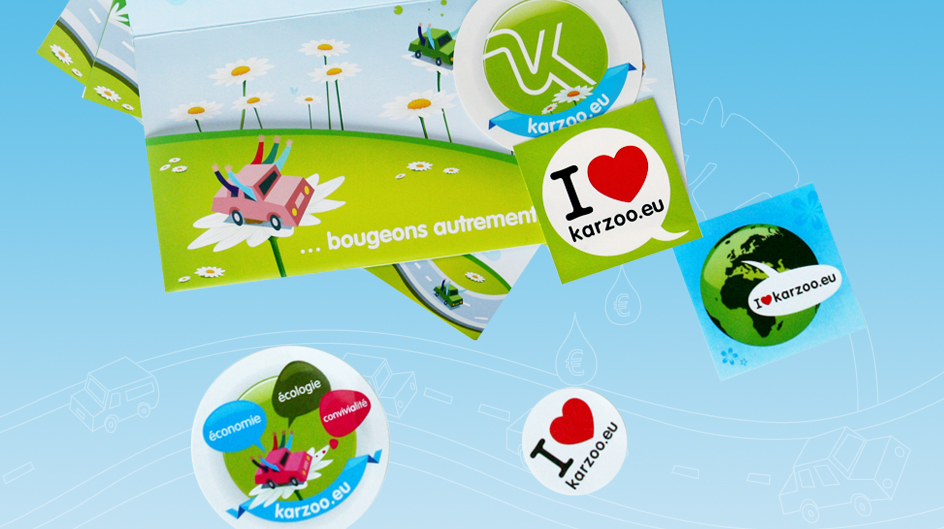 Flyers et stickers Karzoo covoiturage
