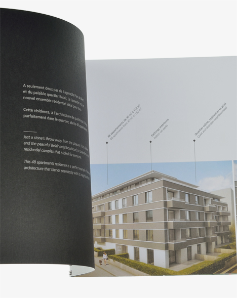 Corporate Le Lavandier - brochure ouverte