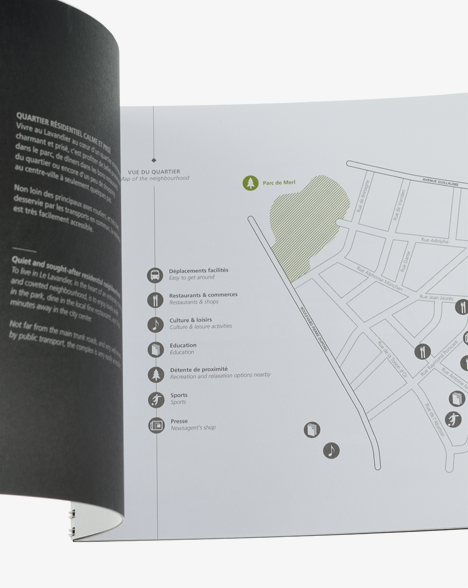 Corporate - brochure Le Lavandier - brochure format ouvert - plan