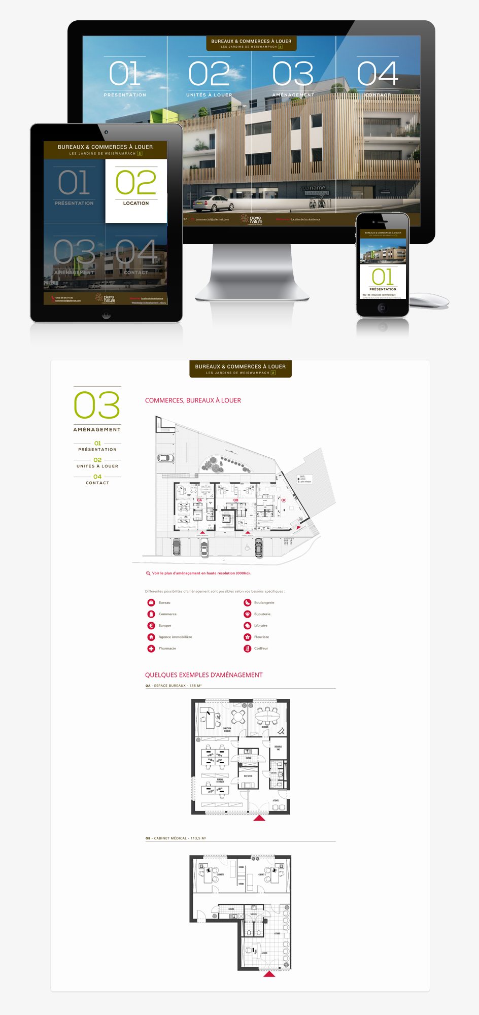 Site internet WWP2 Office - responsive design