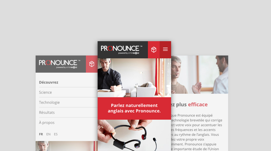 site internet pronounce en responsive design, conception full page