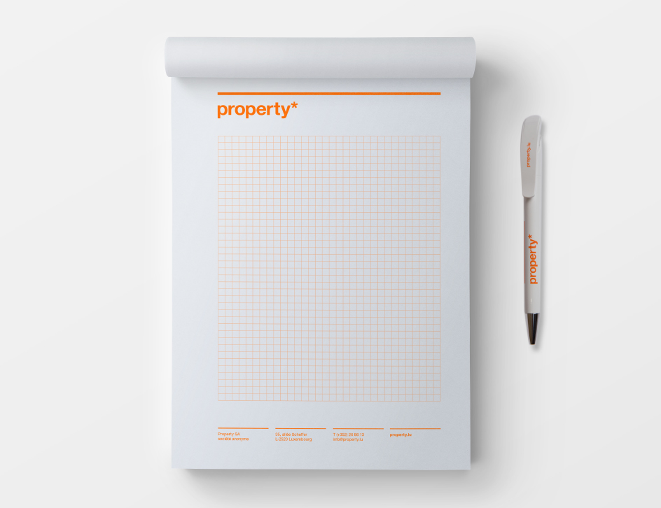 Bloc-notes property
