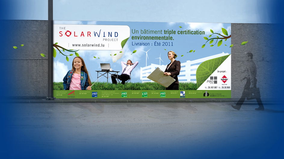 Bâche - projet immobilier Solarwind