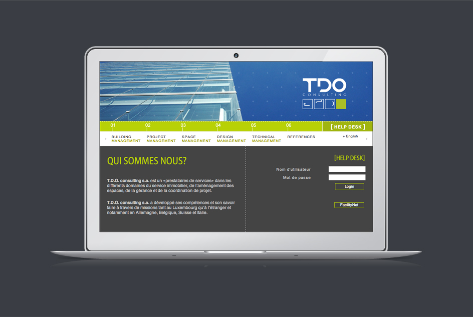 Site internet TDO Consulting - Page d'accueil